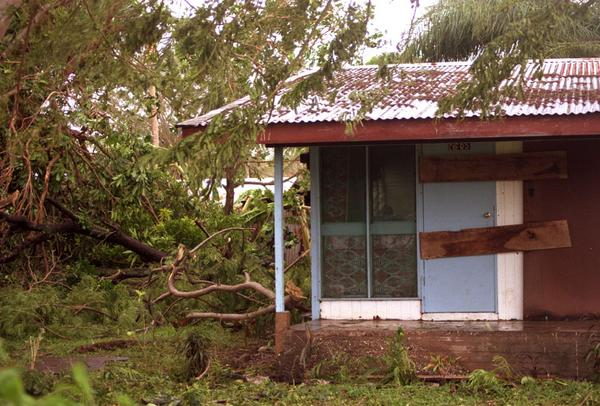 This is the house where four of us weathered Typhoon Ivy. This photo doesn't 