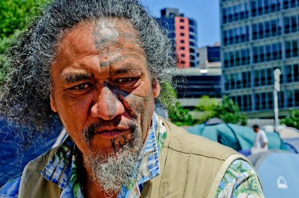 Some of the people I met at the Occupy Auckland camp.