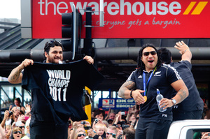 Some of the madness that overtook Auckland during the Rugby World Cup Final.
