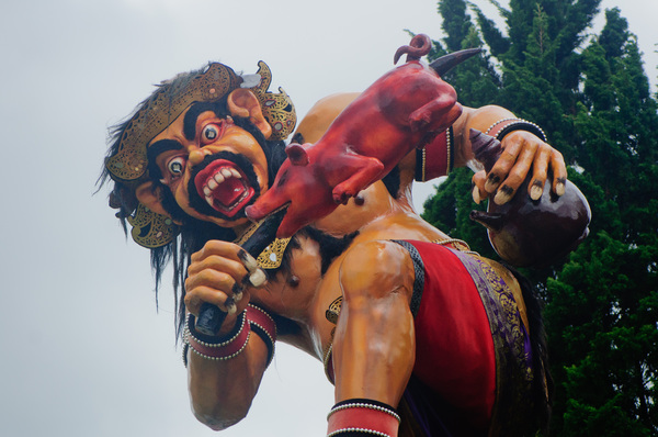 Another example of ogo ogo statues, used in Hindu ceremonies throughout Bali, Indonesia.