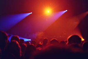 The Studenski Kulturni Centar (or SKC) hosts a wide  variety of cultural and artistic events, from high culture music to the somewhat more, er, active kind we see here. This was the warm-up show for the Asian Dub Foundation.