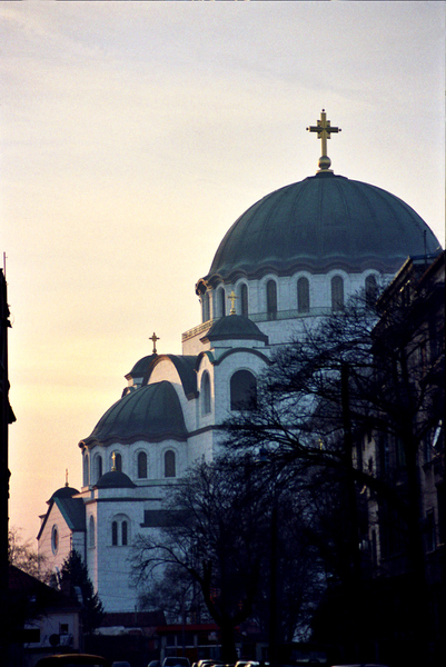 The Sveti Sava church dominates the view of downtown Belgrade from miles away. The church, currently in the  final stages of a major renovation, is imposing, a  fascinating mixture of Turkish, Slavic and Italian  Renaissance styles.