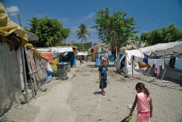 A scene from the camp for Internally Displaced Persons in Dili. Over 40,000 people still occupy camps like this.