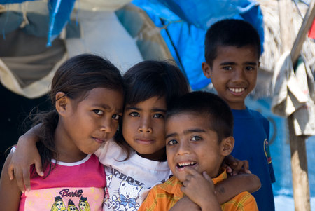 Children in a Dili camp for displaced persons