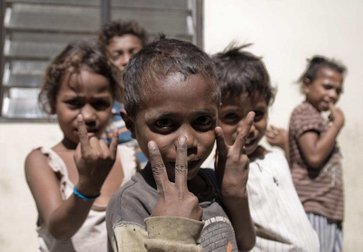 A scene from the camp for Internally Displaced Persons in Dili. Over 40,000 people still occupy camps like this. I'm nearly certain these children were trying to make the 'peace' sign. Nearly certain.