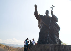 Pope John Paul II's visit to Timor-Leste in 1989 is marked as a seminal moment in Timorese history. Many resistance members saw this affirmation by a world leader as critical to driving popular support for the cause of Timorese independence. This monument commemorating his visit was unveiled in June, 2008.