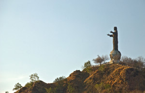 In the 1970s and 1980s, the Catholic Church became a place of refuge for the Timorese people. Approximately 70% of the population converted in that time. This monument, reminiscent of Christ of the Andes, overlooks Dili. It is a popular pilgrimage place for people throughout Timor-Leste.