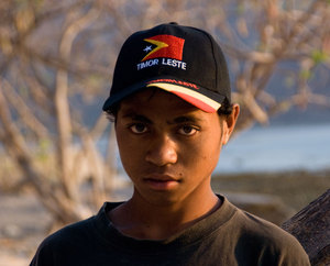 Getting your photo taken is pretty serious business in Timor-Leste. This young guy was smiling and laughing right up to the moment I pointed the camera at him. He wanted very much to have his photo taken, but he wanted to be taken seriously, too. This deep, burning expression became all too familiar to me in the weeks that followed.