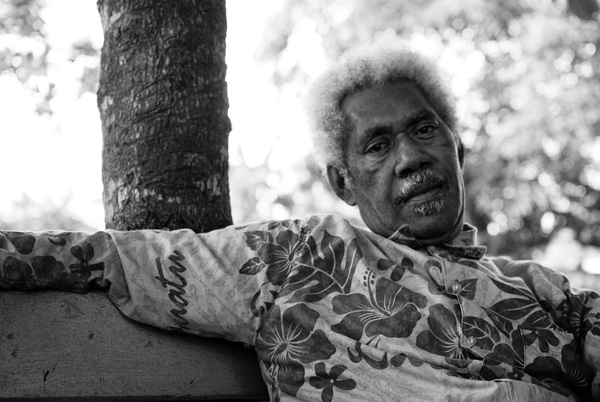 I spent a sunny afternoon in Freswota Park. This man is the patriarch of one of Vanuatu's most talented musical families. He plays a mean rock 'n roll guitar.