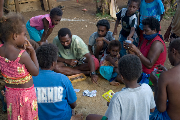 Household fund-raising card games (called kati-kati) are the moral equivalent of weekend bingo in Vanuatu. (Actually, bingo's pretty popular here, too.)