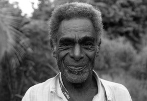 Fred is from North Pentecost. He 'holds' - or mixes - the kava for Jacob's nakamal. He's developed quite a reputation among the locals for mixing a mean shell.