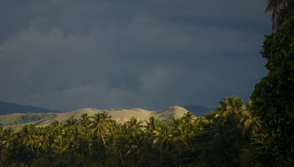 The view from the beach about 20 kilometres West of Honiara.