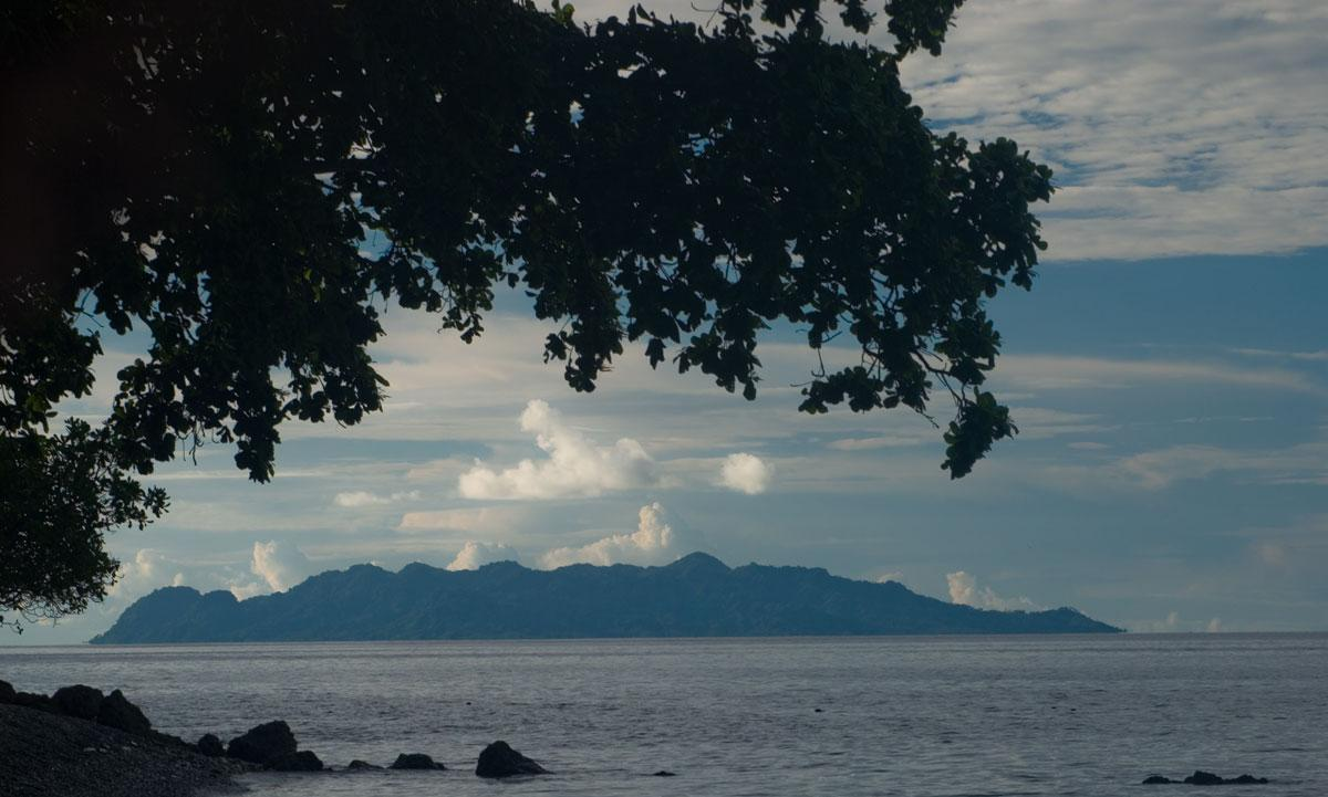 Savo is a small, extremely mountainous island a short distance from Guadalcanal's Northeast coast.