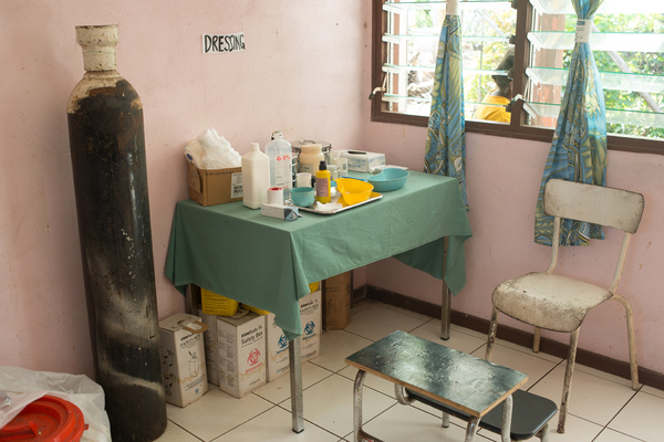 Medical facilities at the Ifira island community clinic.