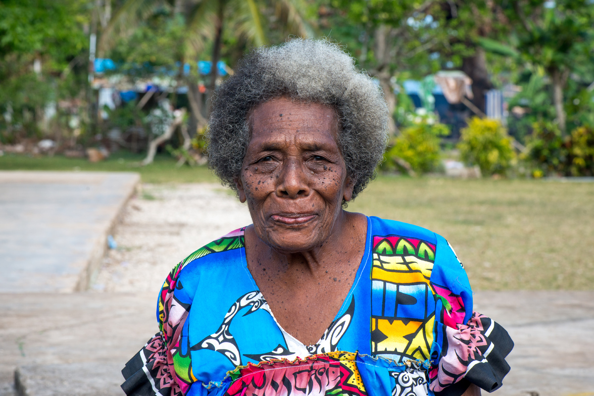 An elderly woman on Ifira island.