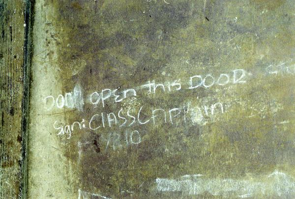 When I saw this notice chalked onto one of the dormitory doors at the junior secondary school in Loltong, I was reminded of similar ones in Unseen University, Ankh Morpork. No wizards were harmed in the taking of this photo.