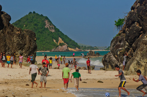 Shots from Kuta beach in Lombok Praya.