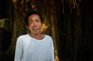 This man led me up and back during my visit to a mountain-top temple in Lombok, Indonesia.