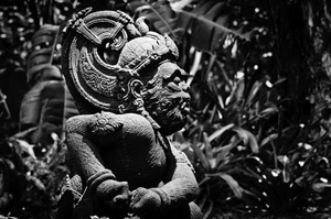 A statue in Port Moresby's botanical gardens, donated by the Government of Indonesia.