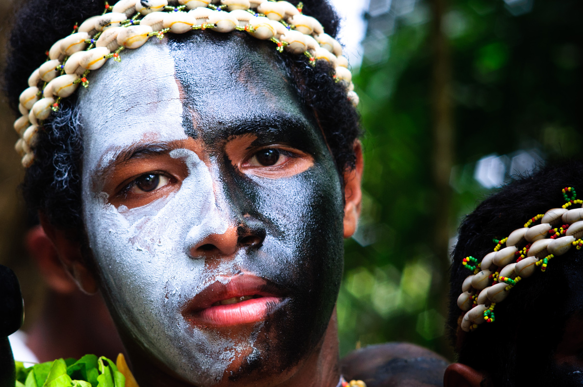 A boy celebrates Manus Province day in Port Moresby.