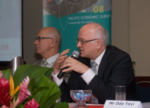 Members of the panel introducing the Pacific Economic Survey in Port Vila. The event was co-presented by AusAID and the Pacific Institute of Public Policy.