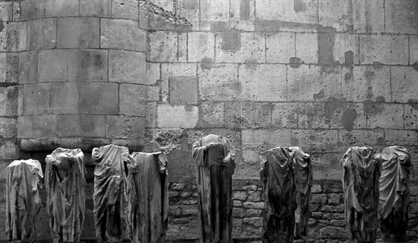 In the bowels of the oldest hotel in Europe (now a museum of early  Mediaeval and Roman antiquities) stands a collection of statues broken, some by looters, some by the passage of time. This collection of broken figures provide a haunting presence to anyone who spends  time in this subterranean chamber.
