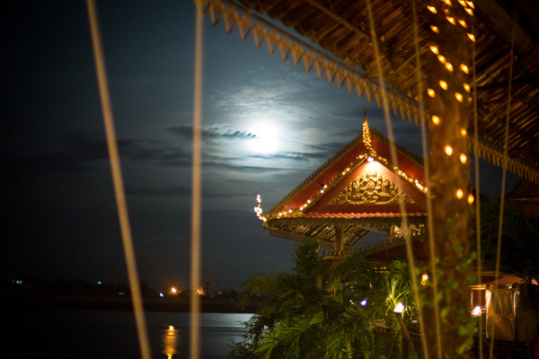 Night time in downtown Phnom Penh.