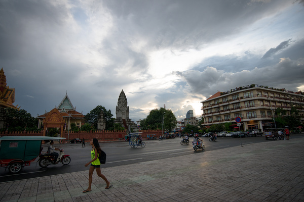 Shots taken after a rain storm in Phnom Penh.