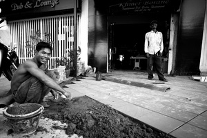 Shots from the artisans' neighbourhood in Phnom Penh,