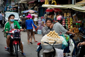 Phnom Penh's central food market.