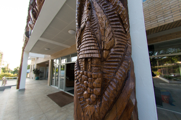 Some shots of the outside of the MSG building in Port Vila.