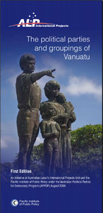 A photo of mine was used as the cover graphic for a report on the political parties and movements of Vanuatu.