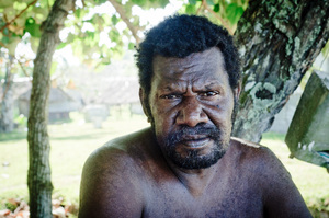 I met this man as I strolled down the beach in Port Olry, one of the most beautiful spots I've ever visited.