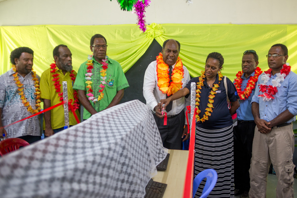 More shots from the ceremonial opening of the school's new computer centre.