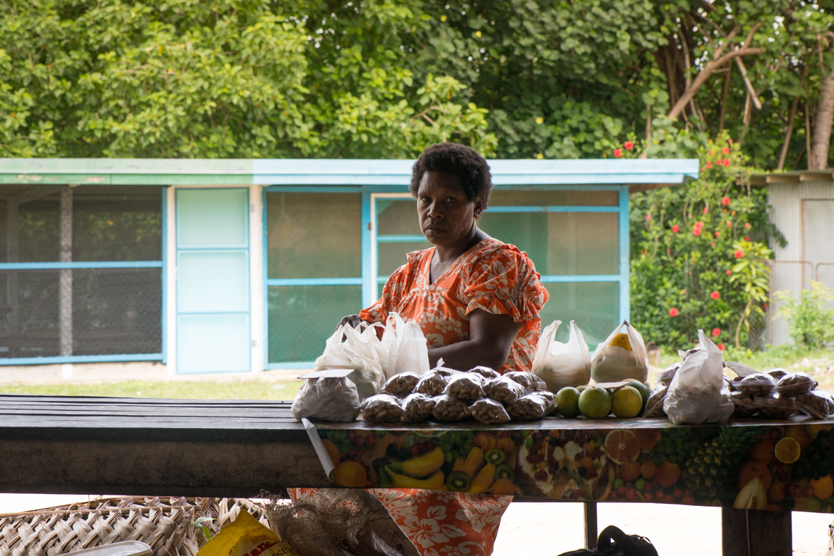 The central and southern parts of Vanuatu suffered badly from cyclone Pam, but Santo and the northern islands were more fortunate. Their marketplaces are still overflowing with seasonal fruits and vegetables.