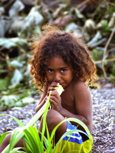 When I was in Sola, I stayed in the guest house run by Robert and Sara. Their oldest boy displays a stunning mix of Melanesian and Polynesian attributes that make all of the locals so beautiful.