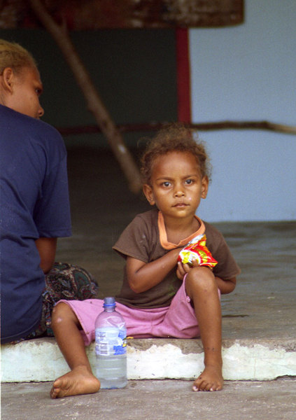 I met this young girl and her mother on the truck ride to Sola airport. She and her mother both were entrancing.
