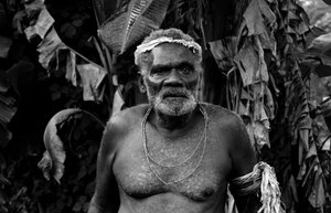 I met Chief Ieru on the road out of Lenakel. We gave him a lift for a few kilometres. In return he sang a song for me. His light baritone voice improvised a list of every community in Port Vila, including Freswota 1,2,3,4 and 5 to Mele, Mele Maat and the underwater post office at Hideaway Island. He is an inspired comedian.