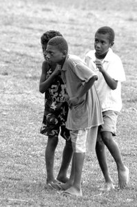 These young boys were among the several hundred local children