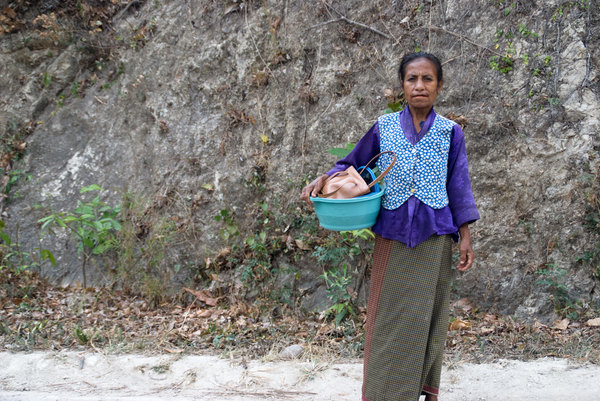 I met this woman on the road between Dili and Baucau,