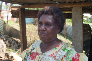 The land-owner considers the work still remaining before things are as they were before cyclone Pam.