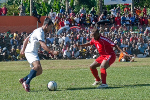 Snaps from the recent O League match between Vanuatu's own Amicale FC and Auckland City.