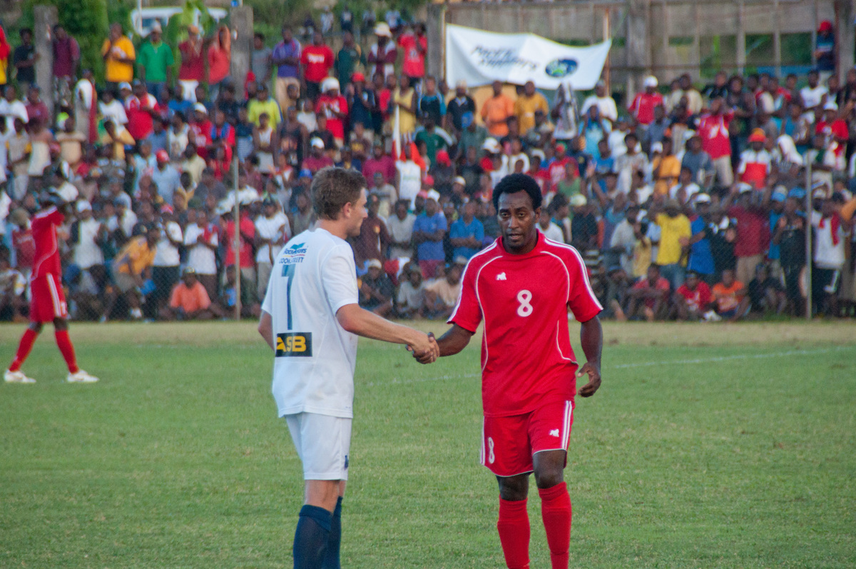 Shots from the O League match between Vanuatu's Amicale FC and Auckland City.