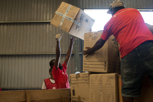 Shots for UNICEF - cyclone Pam relief