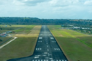 A view of the final approach to Port Vila's Bauerfield International Airport.