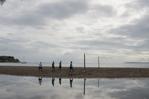 A series of shots I took with the Vanuatu women's beach volleyball team at Mele beach.