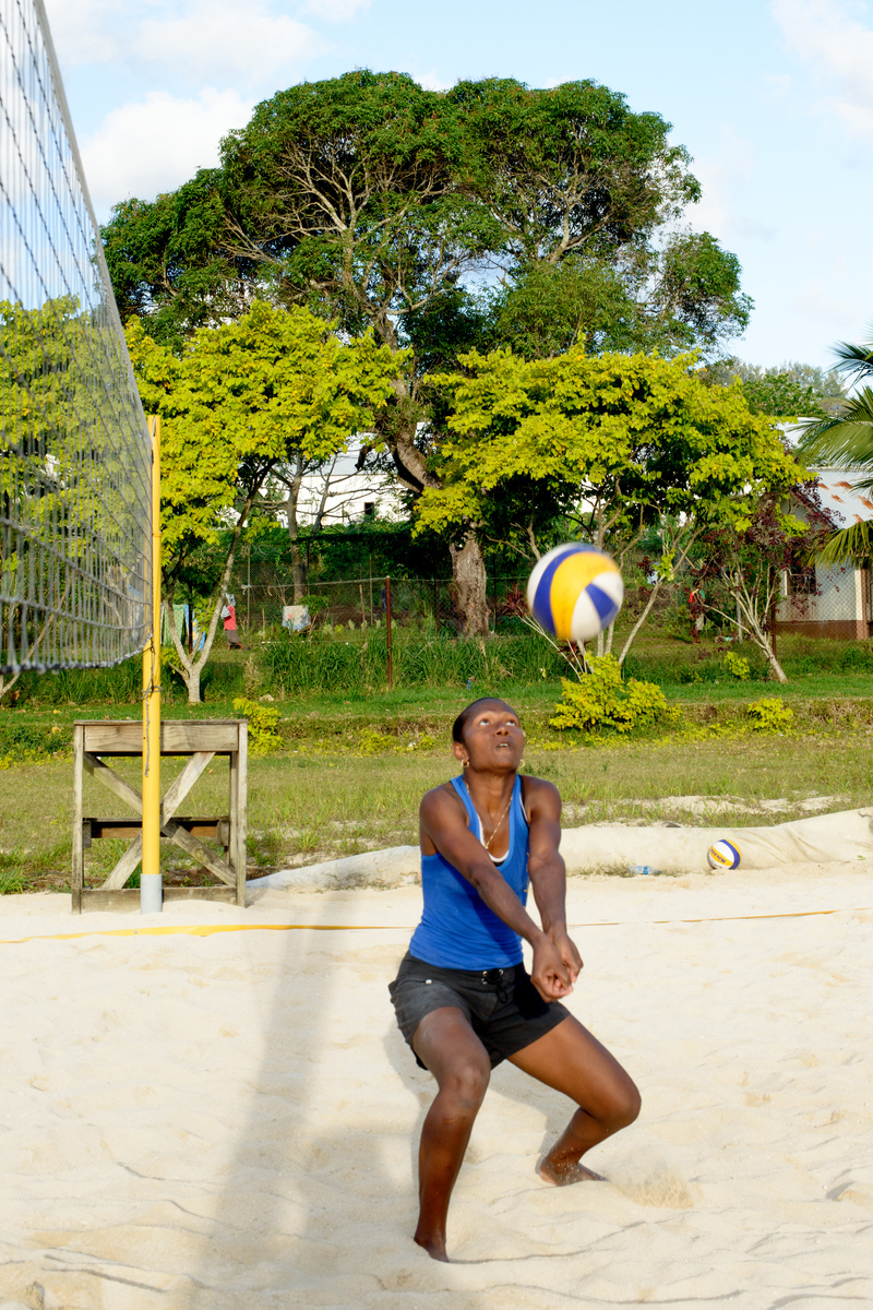 Some shots of the Vanuatu women's beach volleyball team during a training session in Port Vila.