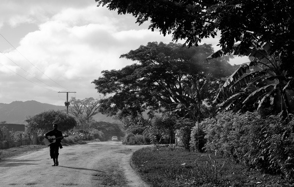 It's not at all unusual to see someone walking down the road, strumming a tune. One of the many things that makes Vanuatu so special.