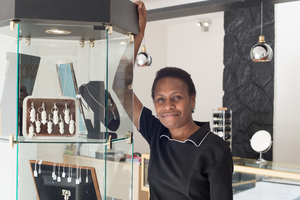 Lydia Batik looks after sales. She's known Estelle since she was a little girl.