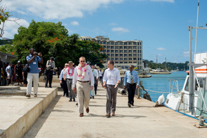 More shots from Senator Bob Carr's visit to Port Vila.
